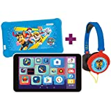 LEXIBOOK- LexiTab Master Pack Paw Patrol Chase - 7' Kids Tablet con apps de Aprendizaje Juegos Controles parentales - Funda Protectora Auriculares Android Wi-Fi Google Play Youtube