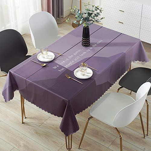 DJUX Tovaglia Decorativa per la casa Impermeabile, antiscottatura, antiolio, tovaglietta USA e Getta in PVC, tovaglia da scrivania, tovaglia