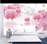 カスタマイズされた3D壁紙壁画新しい中国風美しい芸術的な構想タオウアリンTVソファ背景室内装飾, 250cm×175cm
