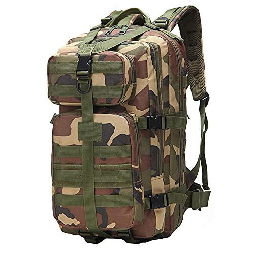 Mochila táctica grande resistente y duradera, de 35 L, mochila de viaje para hombres, mujeres, niños, actividades al aire libre