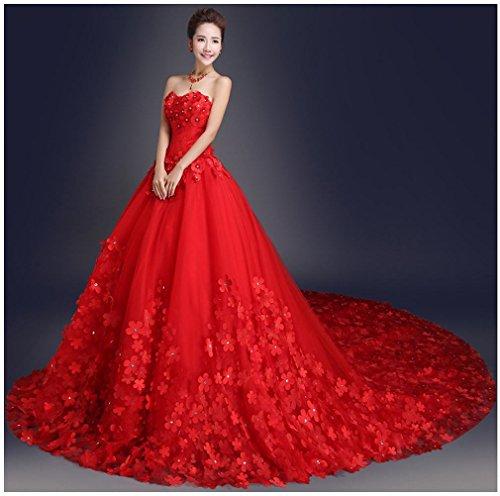 GZ Abito da Sposa Slim Large Custom Dress da Sposa,B,L