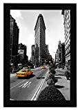 Americanflat 11x17 Picture Frame in Black - Legal Sized Paper Display - Composite Wood with Shatter Resistant Glass - Horizontal and Vertical Formats for Wall