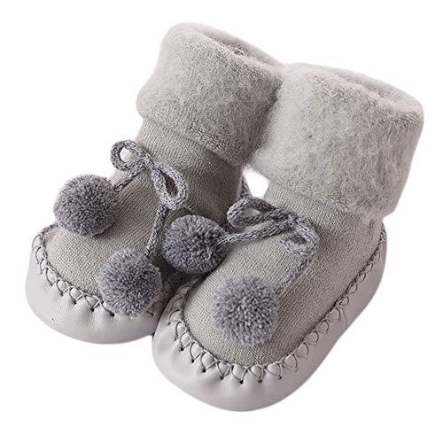 Unisex baby sokken huttenschoen baby mooie herfst winter warme zachte zool sneeuwschoenen zachte kribbe schoenkleinkind laarzen 0-24 maanden op