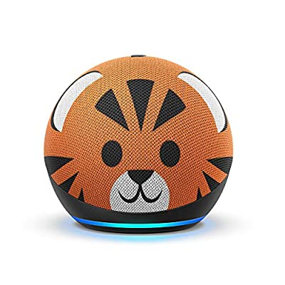 Echo Dot (4th Gen) Kids   Designed for kids, with parental controls   Tiger from Amazon