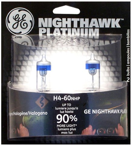 GE Lighting H7-55NHP/BP2 Nighthawk Platinum Halogen Replacement Bulb, 2-Pack