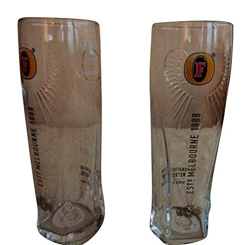 Juego de 2vasos cerveza Fosters Melbourne 1888Fosters Hamilton Rock