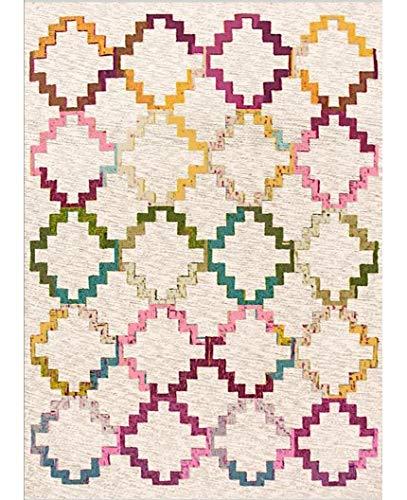 Mani Textile Teppich, ethnisch, rutschfest und maschinenwaschbar, Egée, 200_x_290_cm