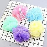 DioLm 1Pc Flower Mesh Bath Puff Body Exfoliante Masaje Scrubber Shower Ball Esponja Beauty Bath Shower Color Aleatorio