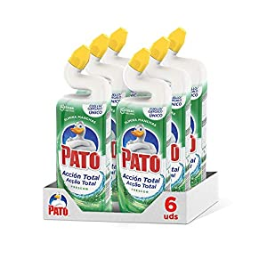 Pato - WC Acción Total Limpiador para Inodoro Frescor , Limpia y Perfuma, 750ml [Pack de 6]