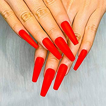 Best red coffin nails Reviews
