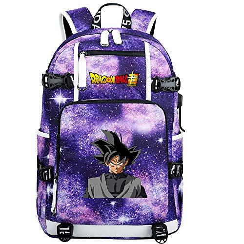ZZGOO-LL Dragon Ball Son Goku/Vegeta IV/Torankusu Anime Backpack Middle Student School Rucksack Daypack for Women/Men with USB-H