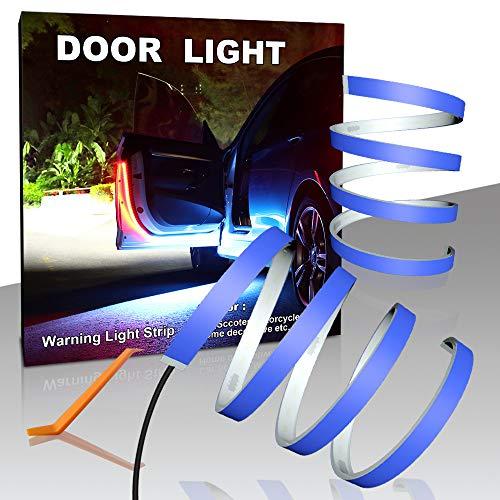 CARLITS Tira de Luces de Advertencia para Puerta de Coche, 2 Unidades 1,2 M Decoración Flash Rojo y Blanco Luces de Paso Lámpara de Emergencia Contra Colisión Trasera