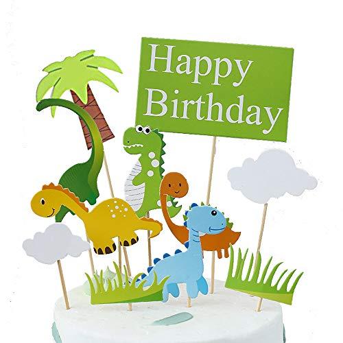 10 stuks dinosaurus taart topper, dinosaurus taart topper kit, taart toppers dierentuin, voor kinderen verjaardag partij benodigdheden