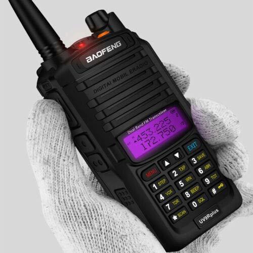 Rabusion Baofeng UV-9R Plus 10W VHF UHF Walkie Talkie Radio de Mano Doble de Banda bidireccional Enchufe de la UE