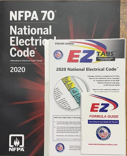 NFPA National Electrical Code (NEC) Paperback, with Color Coded EZ Tabs and Formula Guide 2020 Editions with 12 Rules for Life an Antidote to Chaos Paperback