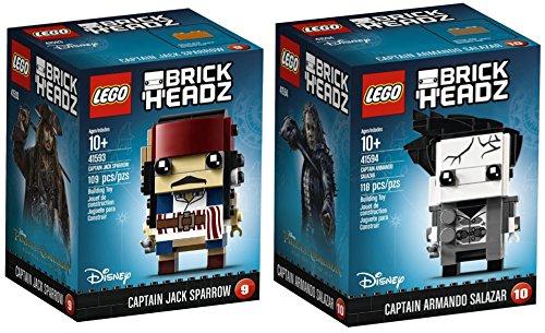 LEGO Brickheadz - Piratas Caribe - Jack Sparrow capitán