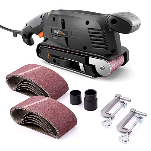 TACKLIFE Belt Sander 3×18-Inch with 13Pcs Sanding Belts,...