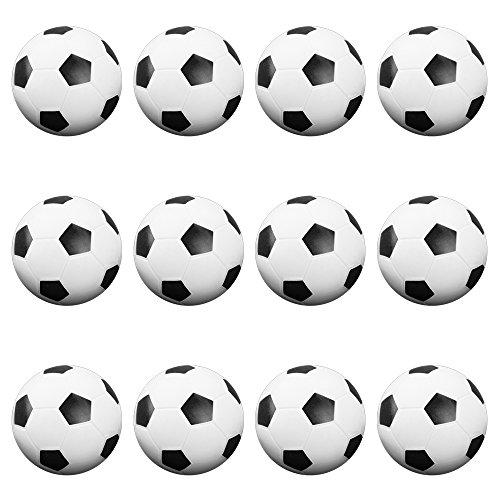 12 Pack of Soccer Style Foosballs, Black & White Textured...