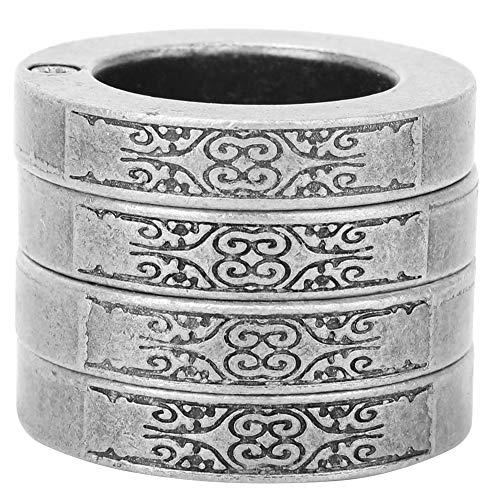 Rehomy Schützen Ringe Finger Breaker Notfall Rettungs Überlebens-Tool (Runde Antike Silber)