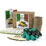 kit per coltivare semi di verdure ed erbe italiane – set completo per coltivare il proprio giardino – guanti con artigli – 20 pacchetti di semi – regalo ideale per giardinaggio
