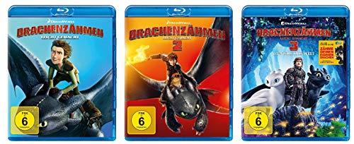 Drachenzähmen leicht gemacht - Kinofilm 1+2+3 im Set - Deutsche Originalware [3 Blu-rays]