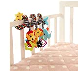 Singring Spirale Aktivität Kinderwagen Baby Plüschtiere Kleinkindspielzeug Spielzeugauto Drehmaschine hängenden Niedlichen kleine Star Spielzeug