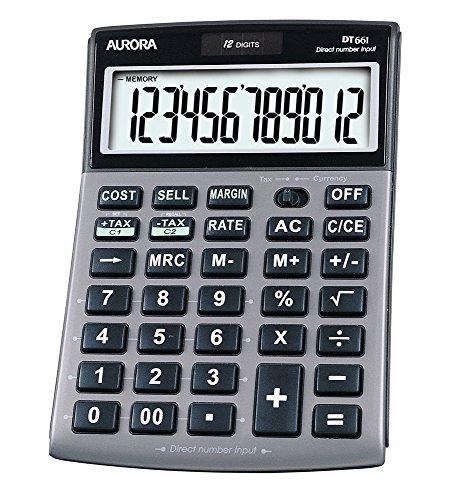 Aurora DT661 rekenmachine met kosten/verkoopprijs en belastingen