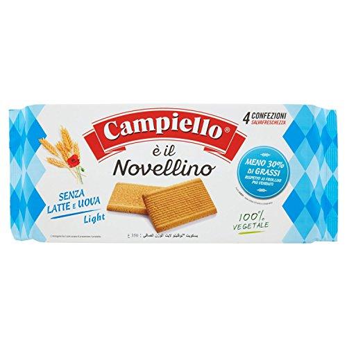 Campiello Biscotti Frollini senza Latte e Uova, 4 x 87.5g