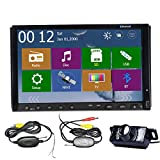 Alta Definici¨®n de Windows 8 WINCE 8,0 UI Navegador GPS 3D PIP Bluetooth cable USB 7 'HD Doble 2 Din Car Radio DVD directamente para la c¨¢mara iPhone BT + Wireless LED trasera