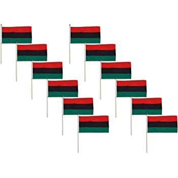 Online Stores African American Flag 12 x 18 inch - 12 PK