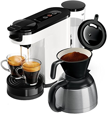Philips Senseo HD6592/00 Switch 2-in-1 Kaffeemaschine, weiß