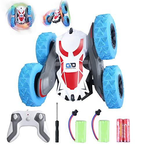 ETEPON Ferngesteuertes Auto RC Auto für Kinder, 2.4GHz 4WD RC Stunt Auto 360°-Drehung Doppelseitigen Stuntauto, Spielzeugauto mit wiederaufladbarer Batterie, tolles Geschenk für Kinder