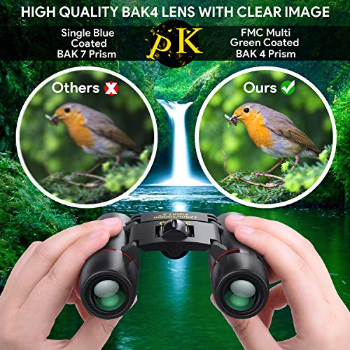 30 x 60 Small Binoculars for Adults Kids, AUCEE Compact Lightweight Binoculars Pocket Binoculars for Concerts Shows Mini Binoculars Folding Binoculars for Bird Watching Travel Hiking Sports (30x60)