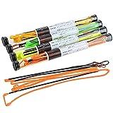 AMEYXGS 64-67 Zoll Bogenschießen Bogensehne für Recurve Bogen und Langbogen Handgefertigt 16 Stränge Bogen Sehne Ersatzbogen String Bogenschnur (Orange, 164cm/64.6')