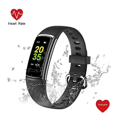 Abeyete Pulsera de Actividad Reloj Inteligente para Hombre y Mujer IP68 Impermeable con 14 Modos de Deportivo con Pulsómetro Sueño Podómetro Calorías Pulsera Deporte para iOS y Android