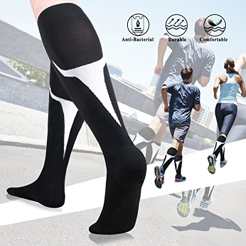 Sports For Woman Size Shoe Size UK 2.5-7 //EU 35-40,Black FunRun Non Slip Skid Women Pilates Yoga Socks Dance Mat Massage Socks With Grips Best Fitness Dance Ballet Barre Pilates