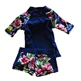 LOSORN ZPY Baby Toddler Boy Girl Two Piece Swimsuit Swimwear Bathing Suit UPF 50+ Blue M