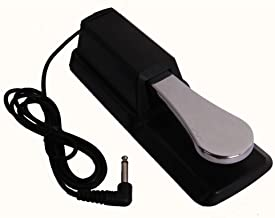 Universal Sustain Pedal for All Electronic Keyboards, Digital Pianos & Synthesizers - Yamaha,Kurzweil,Korg,Casio,Fater,Ensoniq,Roland,Williams,Behringer,Moog Footswitch Damper Pedal