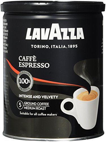 Lavazza Gemahlener Kaffee - Caffè Espresso - Vakuumdose - 12er Pack (12 x 250g Dose)