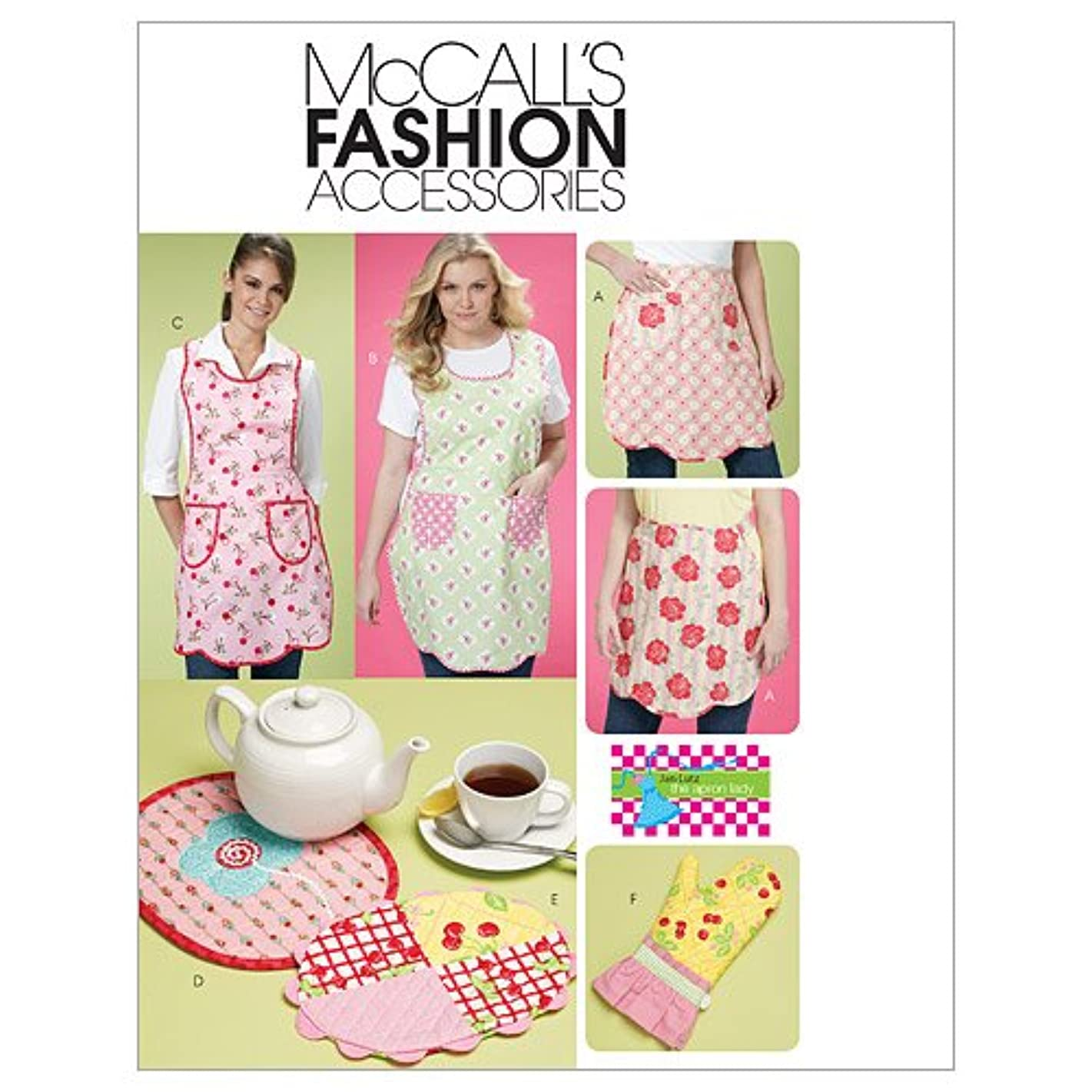 McCall's Patterns M6092 Aprons, Mitt and Trivets, Size YY (SML-MED)