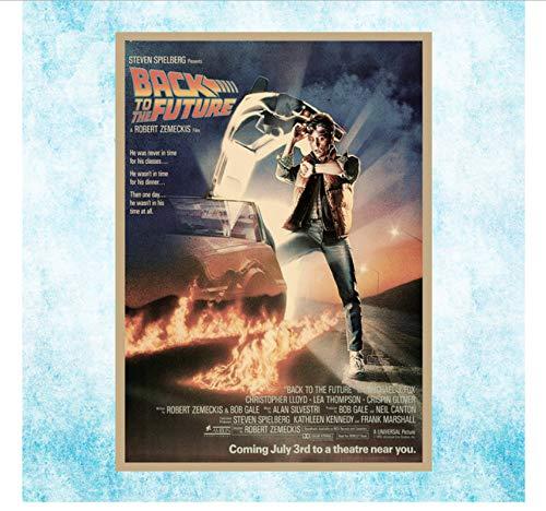 NVRENHUA Regreso al Futuro 1 2 3 Popular Movie Art Canvas Print Poster Decoración de la habitación Bar Decoración Wall Art Picture 50X70Cm Sin Marco