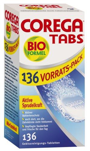 Corega Tabs mit Bioformel, 6er Pack (6 x 136 Stück)