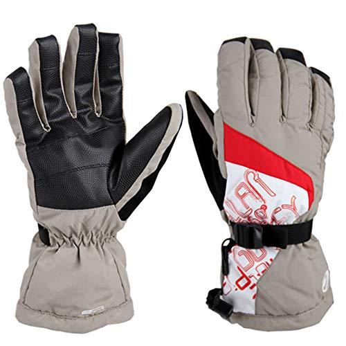 DaDong Modische windundurchlässige wasserdichte Handschuhe, Winter-Ski-Langlauf-Handschuhe Sport Laufen Anti-Lost Climbing Klettern Tragbarer Warm Fahrrad