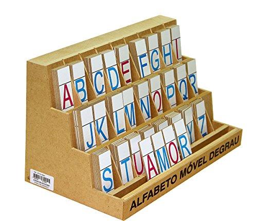 Carlu Brinquedos - Alfabeto Móvel Degrau Jogo de Tabuleiro, 4+ Anos, Multicolorido, 1204