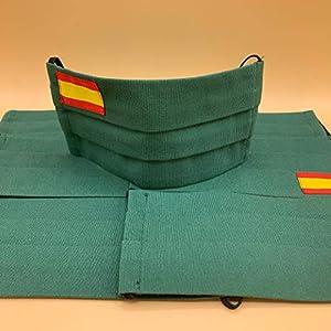 51JTfB0zjIL. SS300  - Cubiertas de proteccion verde con bandera de España 2 unidades