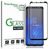 amFilm Glass Screen Protector for Samsung Galaxy S8, 3D Curved Tempered Glass,...