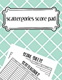 scattergories score pad: scattergories score sheets to keep tracking of who ahead in your favorite...