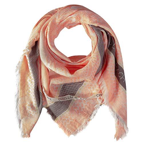 Codello Damen Halstuch XXL  mit Ethno-Muster   aus Baumwolle   135x135cm