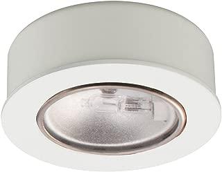 WAC Lighting HR-88-WT Low Voltage Round Halogen Button, 12V 20W