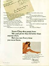 Sears Cling-alon panty hose fit better than anyone else's pantyhose ad 1971